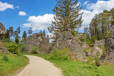 alp: Educational trail through the Wental valley at Swabian Alps near Steinheim and Bartholomae