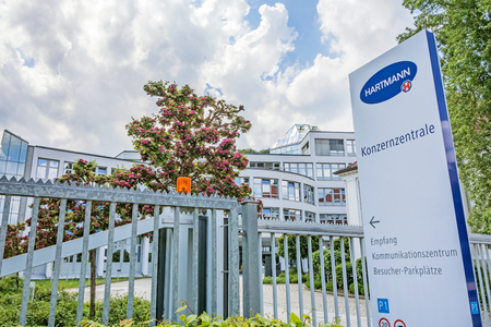 operative: Heidenheim, Germany - May 26, 2016: Corporate head office of Hartmann AG, a german international operative company producing medical and care products.