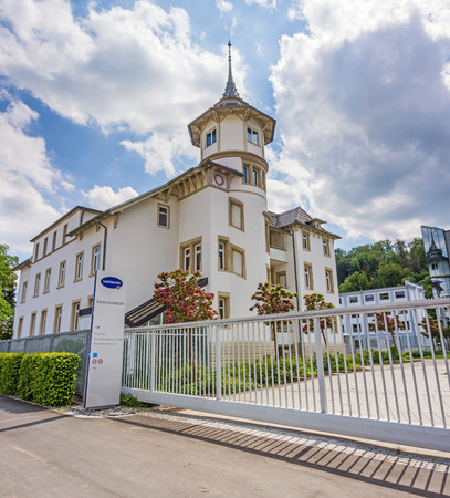 healthcare visitor: Heidenheim, Germany - May 26, 2016: Corporate head office of Hartmann AG, a german international operative company producing medical and care products.