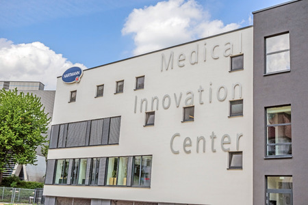 operative: Heidenheim, Germany - May 26, 2016: Medical Innovation Centerof Hartmann AG, a german international operative company producing medical and care products. Editorial