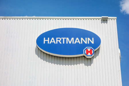 operative: Heidenheim, Germany - May 26, 2016: Logo of Hartmann AG, a german international operative company producing medical and care products.