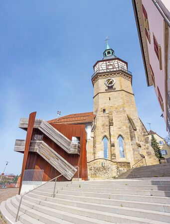 regional: Backnang, Germany - April 2, 2016: Art gallery of the city of Backnang (Helferhaus). It hosts different exhibitions each year with oeuvres from regional and national artists.