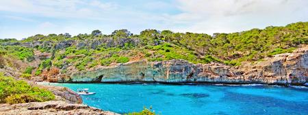Plaża / zatoka Calo d'Es Moro panorama, Majorka