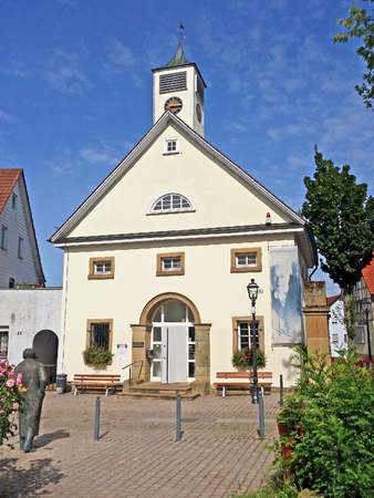 statesman: Brackenheim, Germany - August 11, 2016: Theodor-Heuss-Museum, it hosts an exhibition on the life and work of the first Federal President Theodor Heuss, who was born on 31 January 1884 in Brackenheim. Stock Photo
