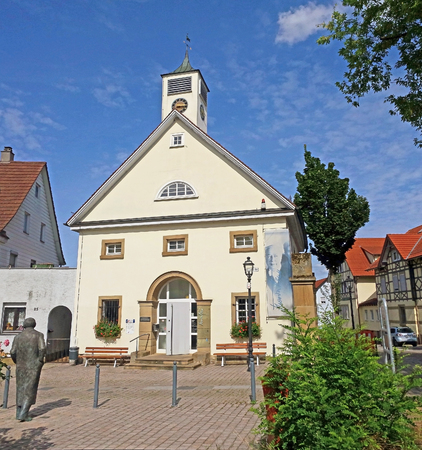 Brackenheim, Germany - August 11, 2016: Theodor-Heuss-Museum, it hosts an exhibition on the life and work of the first Federal President Theodor Heuss, who was born on 31 January 1884 in Brackenheim. Stock Photo