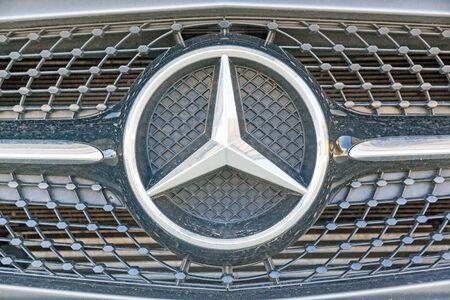 expensive: Stuttgart, Germany - May 06, 2017: Mercedes Benz grill with star
