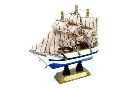 Isolated Fregat Ship Model on White Background