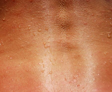 Woman Back Spine Skin Texture Closeup for Background Stock Photo