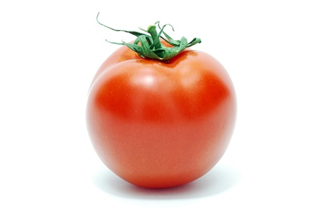 Isolated Red Tomato on White