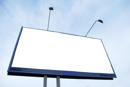 Clear Advertisement Billboard on Sky Background