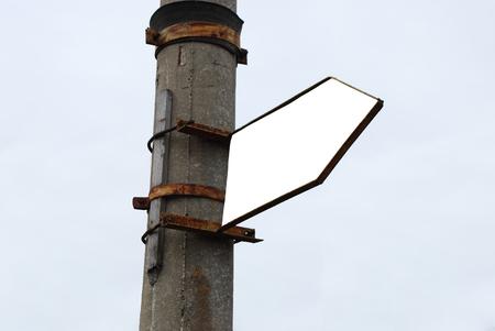 Clear Advertisement Arrow Billboard on Sky Background