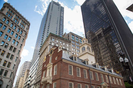 Boston, the Old State House, a museum on the Freedom Trail