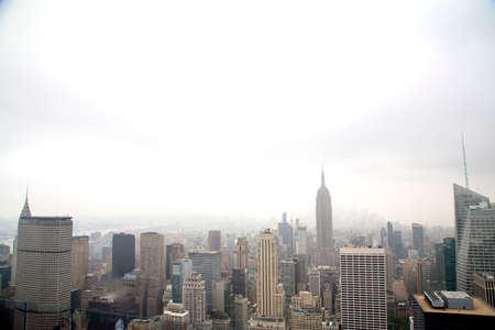 city park skyline: New York - Skyline from the Top of the Rock Stock Photo