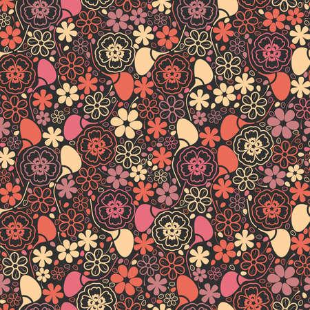 tessile: Foglie colorate - seamless Vettoriali