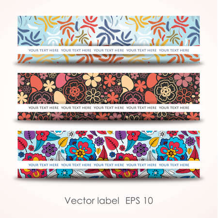 Set colorful autumn cards Vector