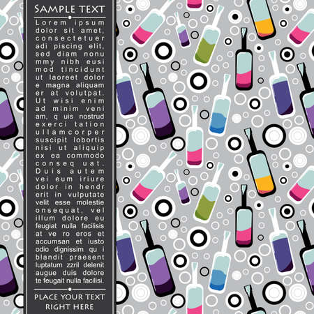 Colorful bottles on gray background Vector