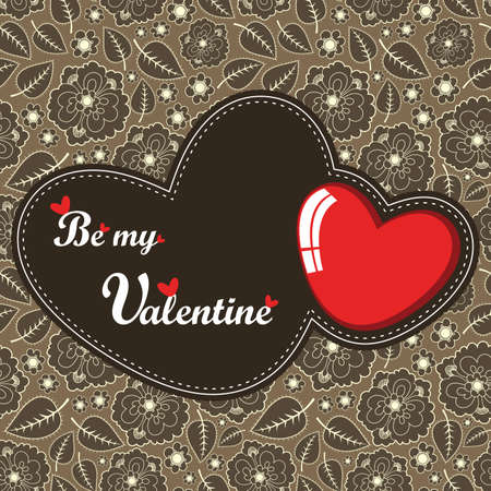 Valentine`s Day card Vector
