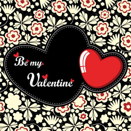 バレンタインの日カード  イラスト・ベクター素材