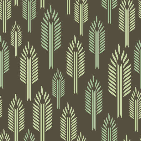 Trees - seamless pattern Vector