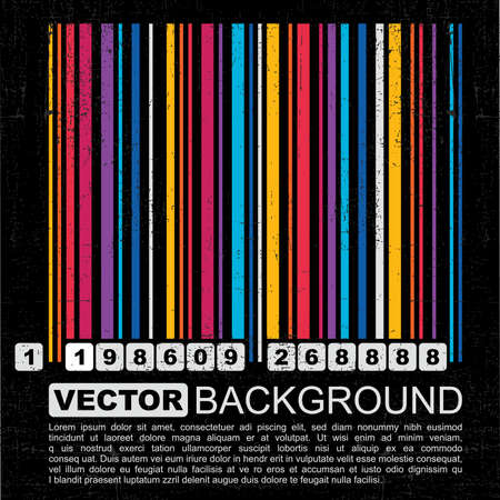 Grunge barcode background - vector Stock Vector - 12014066