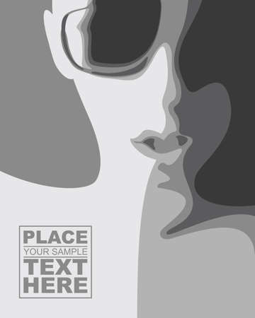 women glasses: Abstract face with glasses