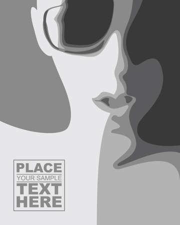 man face profile: Resumen cara con gafas
