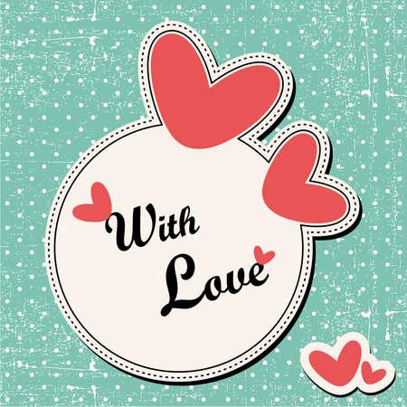 papel scrapbook: Valentine `s Day tarjeta