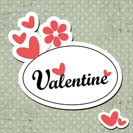 scrap booking: Valentine`s Day card