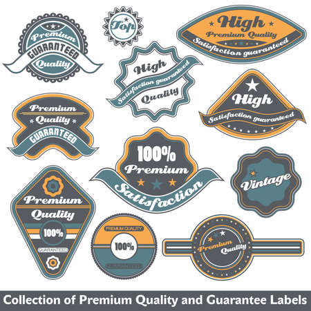Premium quality and guarantee label collection Stock Vector - 12344882