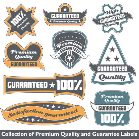 Premium quality and guarantee label collection Stock Vector - 12344879