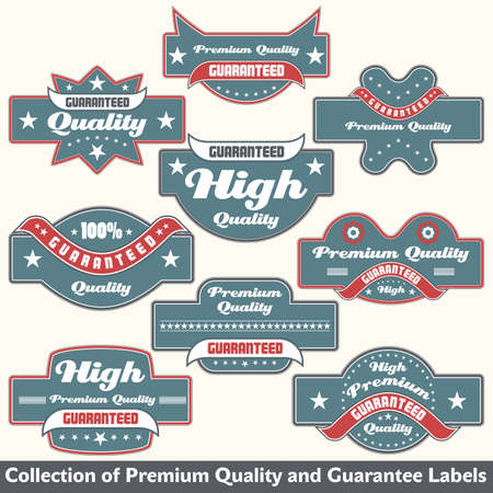 Premium quality and guarantee label collection Stock Vector - 12344888