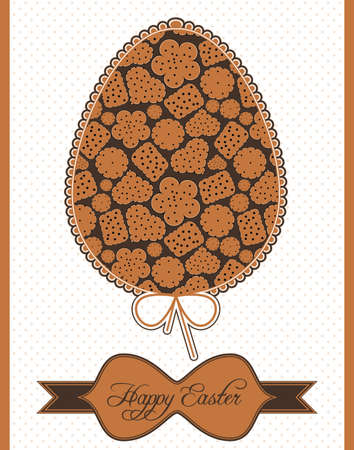 Easter egg with cookies Vector