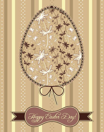 Easter egg with flowers Stock Vector - 12505912