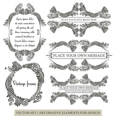 Calligraphic design elements and page decoration
