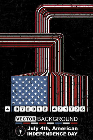 Independence Day- 4 of July Vector