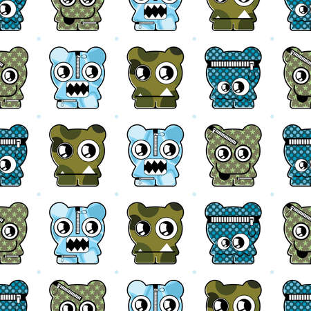 monster seamless Vector
