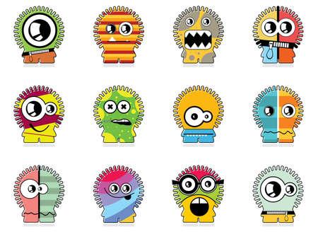 Set of twelve monsters Stock Vector - 13228528