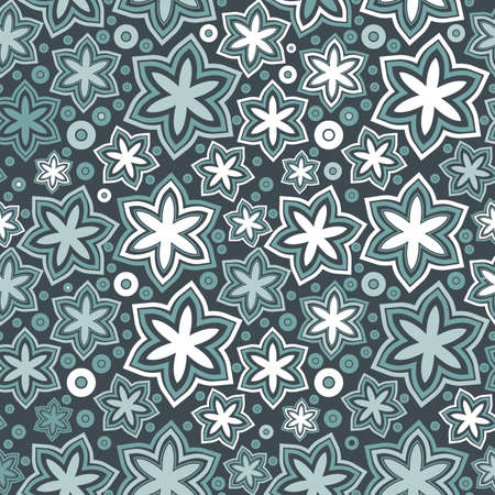 creative beauty: colorful leafs and flowers - seamless pattern