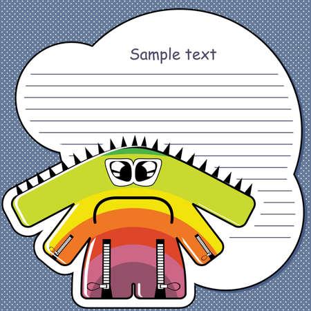 Cartoon monster with message cloud Stock Vector - 13406132
