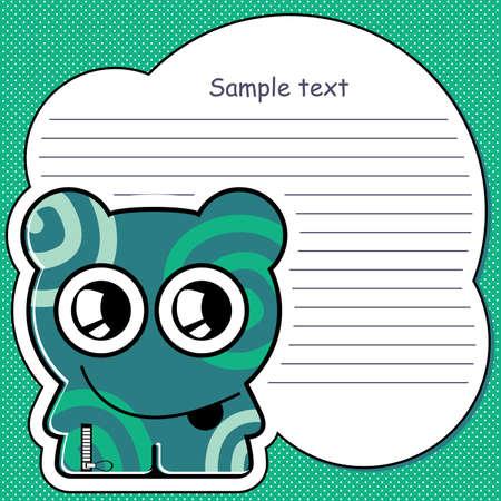 Cartoon monster with message cloud Stock Vector - 13406128