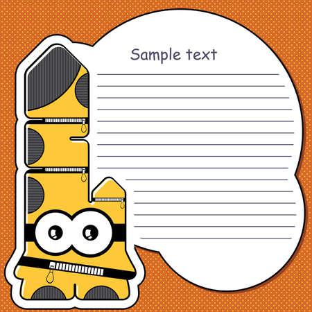 Cartoon monster with message cloud Stock Vector - 13466849