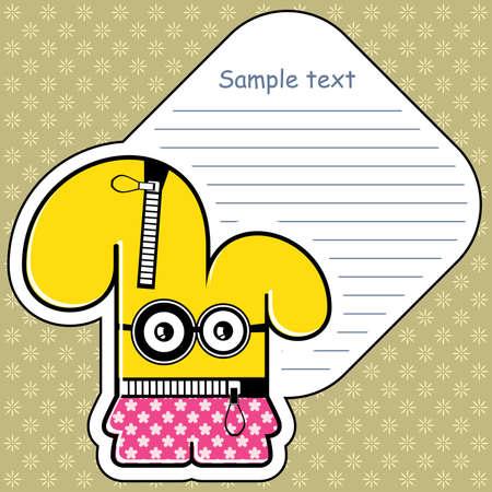 Cartoon monster with message cloud Stock Vector - 13466892