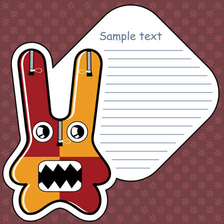 Cartoon monster with message cloud Vector