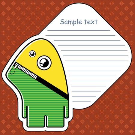 Cartoon monster with message cloud Stock Vector - 13466877