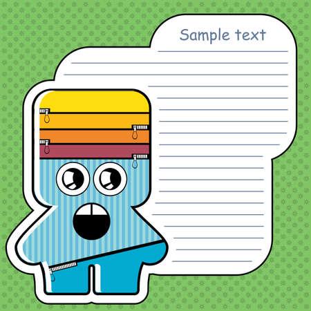 Cartoon monster with message cloud Stock Vector - 13466958