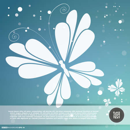 Card with butterfly Vector