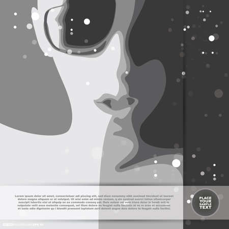Abstract face with glasses Vector