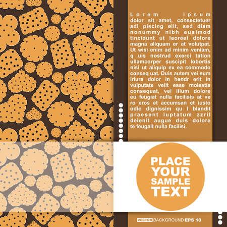 sweetmeat: Card with sweet cookies on brown