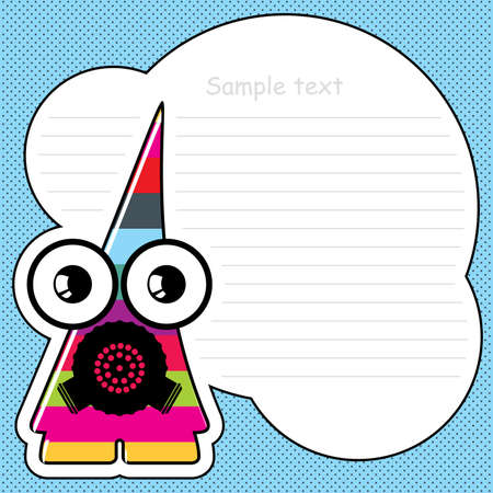Cartoon monster with message cloud  Stock Vector - 13466989