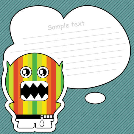 Cartoon monster with message cloud Stock Vector - 13467011